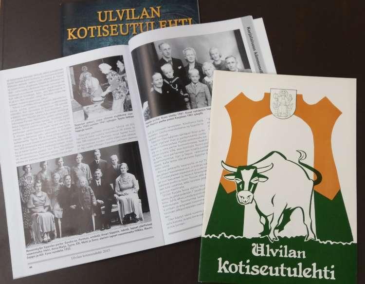 Ulvilan Kotiseutulehtiä eri vuosikymmeniltä.